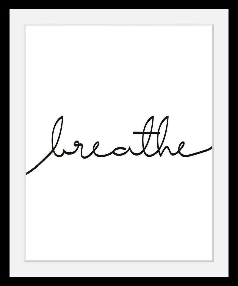 Bild mit Rahmen »Breath« in 3 Größen | Acrylglas, Holzrahmen und Rahmen