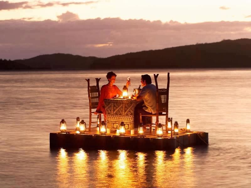 Yeah. Romantic. Until someone needs the toilet. Whatchagonnadotheneh?