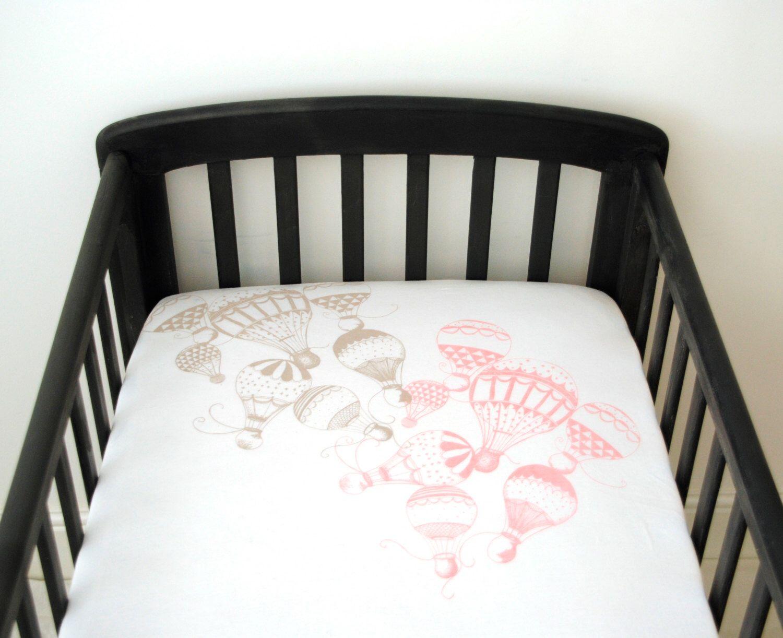 Hot air balloon nursery, Crib Sheet, organic, baby bedding