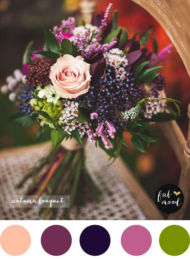 Magnificent autumn wedding bouquets purple wedding for Simple fall bridesmaid bouquets