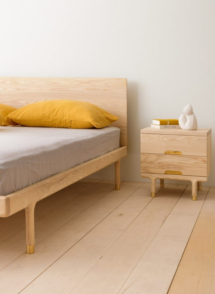 Simple Bed Ash In 2020 Simple Bed Bed Modern Platform Bed