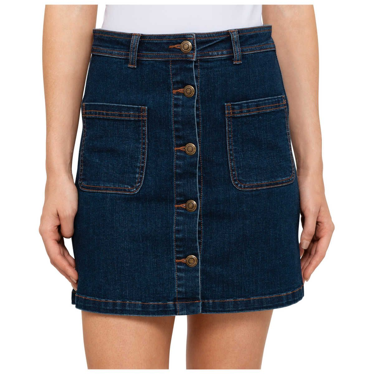 Women's sandals big w - Lee Cooper Button Pocket Denim Skirt Big W