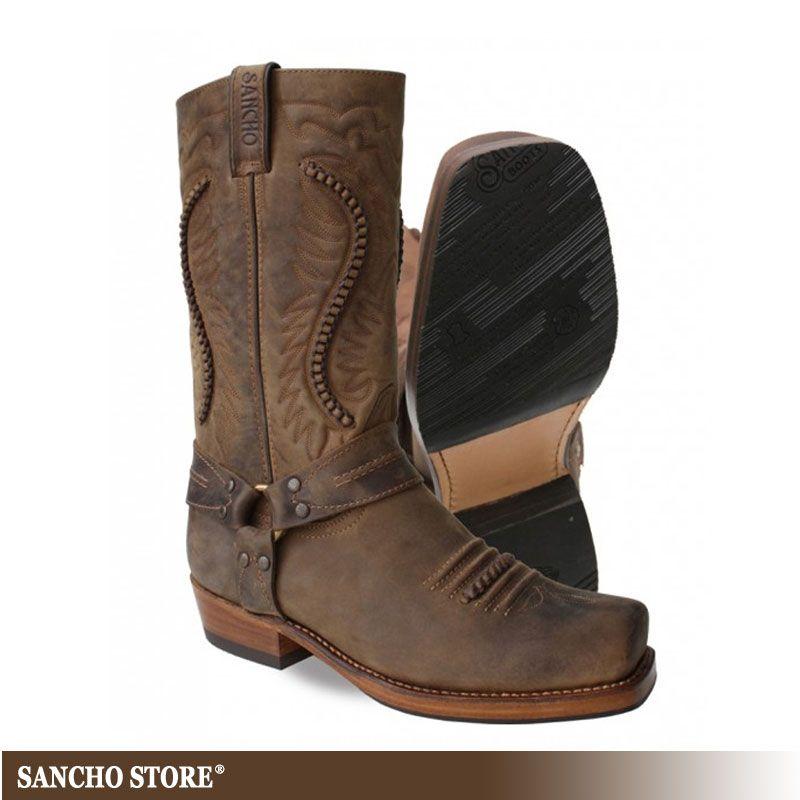 Von Auf Cowboy MenBikerstiefelBiker Boots Pin Stiefel 0OPw8nXk