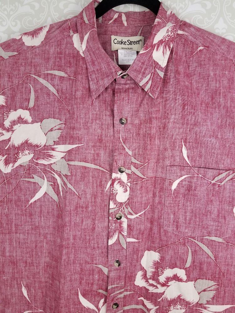 096581d63fdfeb Mens COOKE STREET HAWAIIAN Red Reverse Print LOUNGE SHIRT 2XL Cotton ALOHA  | eBay