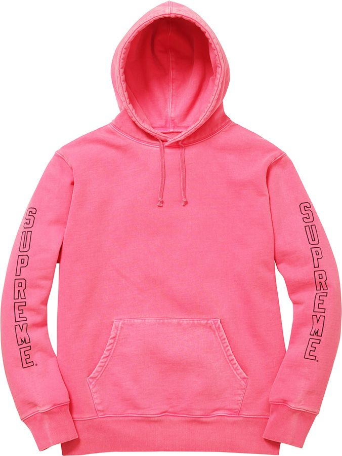 4ade70053 Supreme, Over Dyed Hooded Sweatshirt (Pink) | Streetwear and High ...