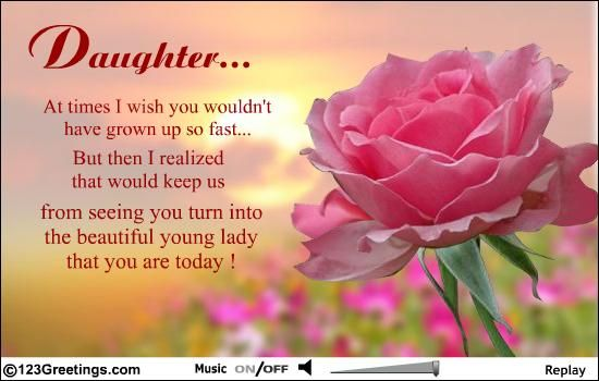 Happy Birthday Quotes For Daughter 30th Cards My