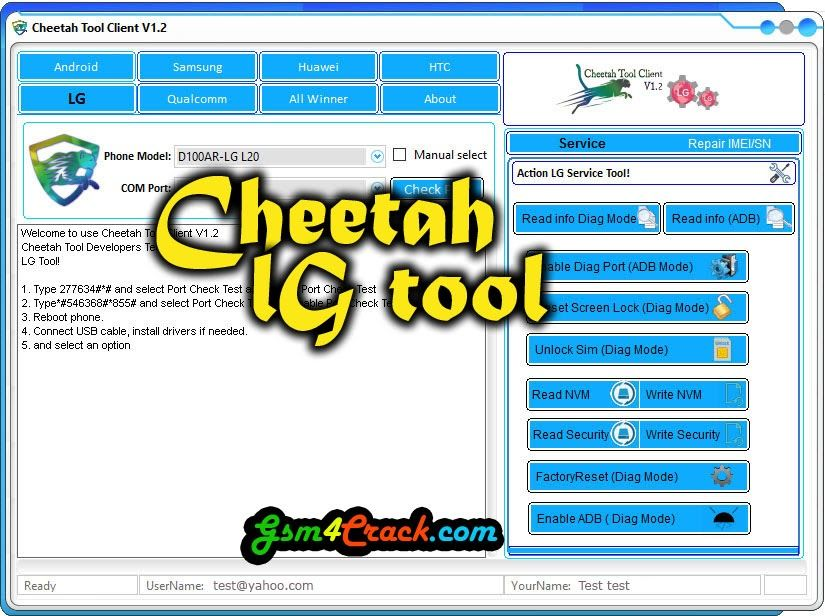 Download Cheetah LG Tool V1 2 Latest Version Download
