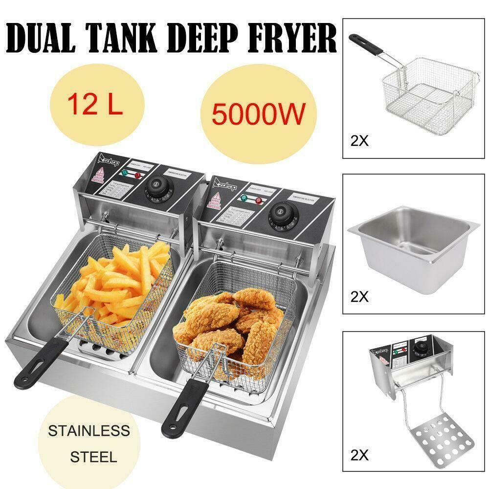 Fryers 185033 2500W 6L Electric Deep Fryer Commercial