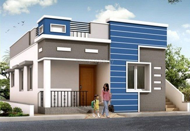 N Single Home Elevation : Simple single floor normal house front elevation designs