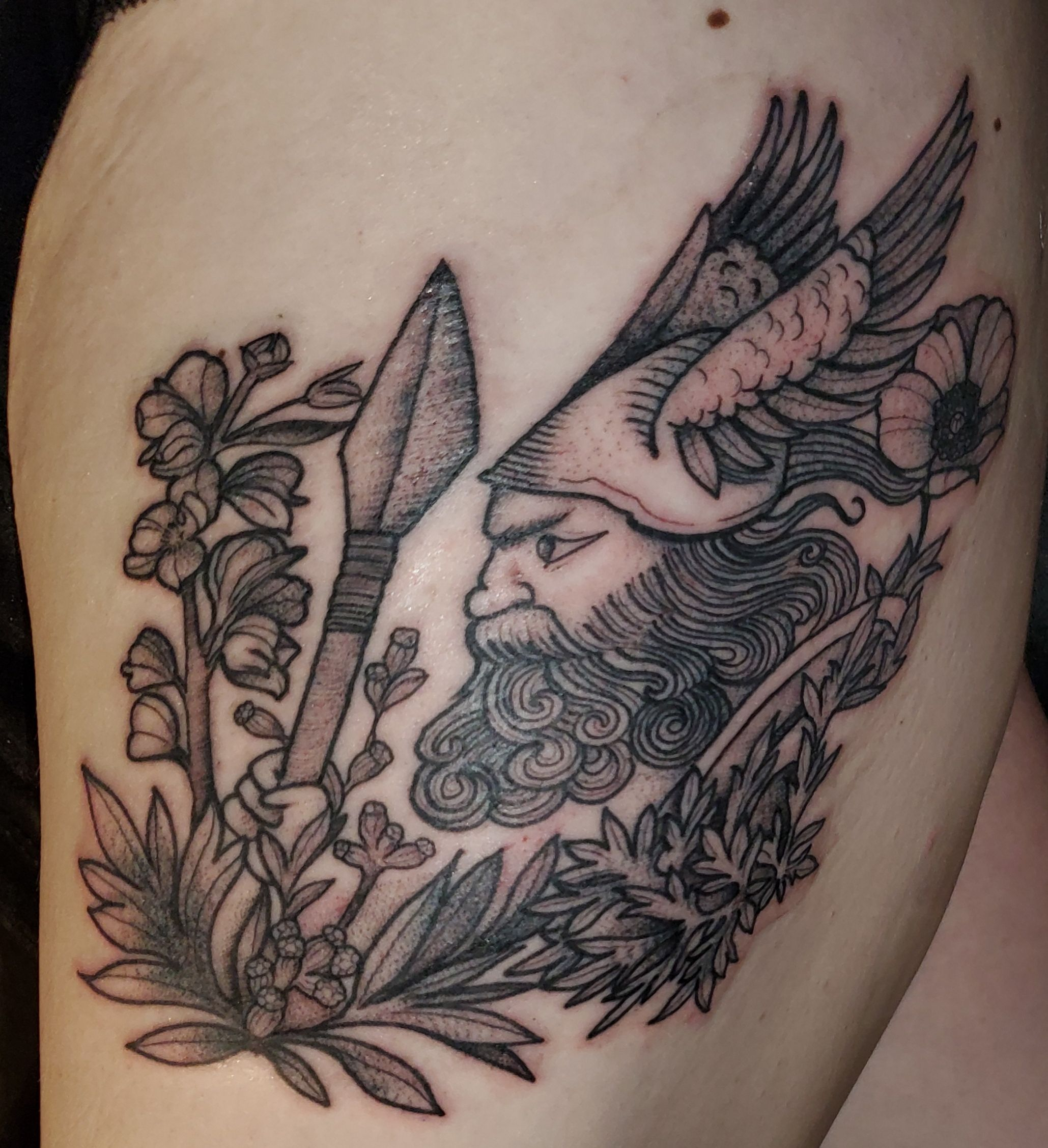 Filthy viking and florals by sierra at golden spiral