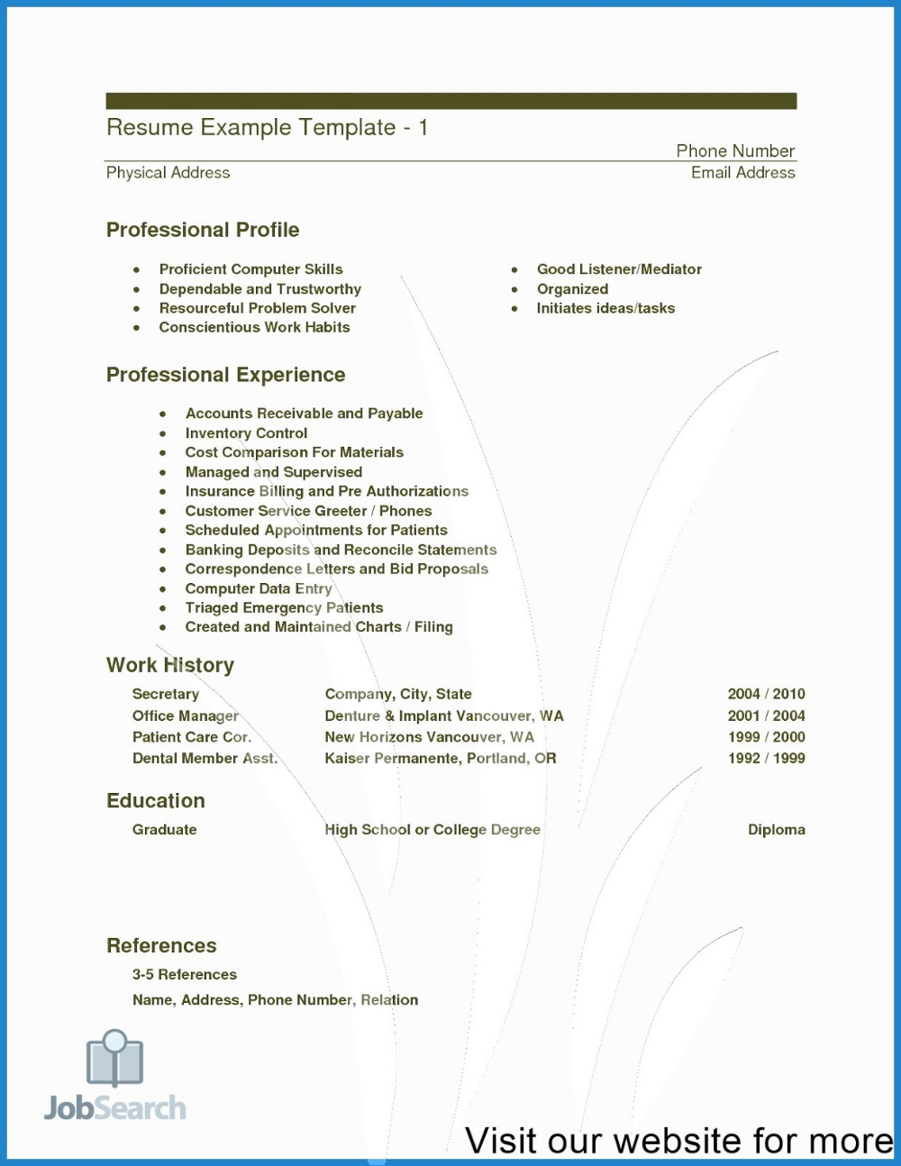 Healthcare Resume Templates 2020 Healthcare Administration Word In