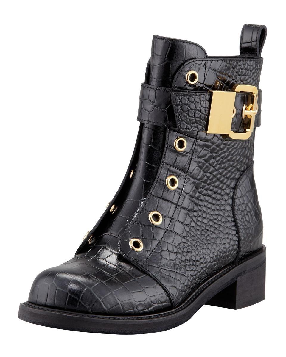 9412dd323f6db Giuseppe Zanotti Embossed Laceless Combat Boot. | Women Boots ...