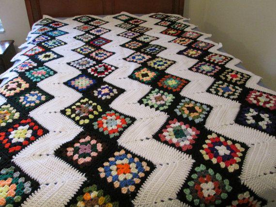 Zig Zag Grannies Afghan 1 by AfghansMadeWithLove on Etsy, $125.00 ...