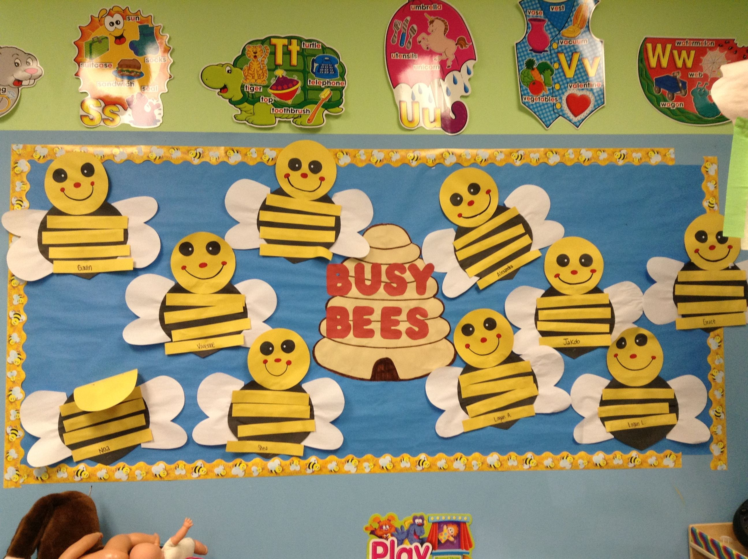 Spring Bulletin Board Bee Craft Cute Honey