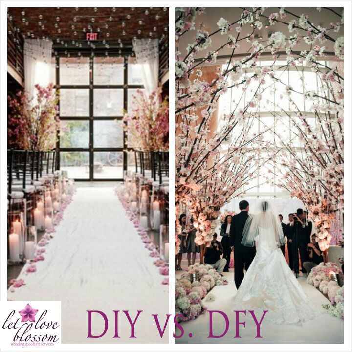 Wedding Altar Trees: Cherry Blossom Aisle DIY: Recreate With A White Aisle