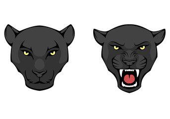 Line Illustration Of A Black Panther Head Avec Images Dessin