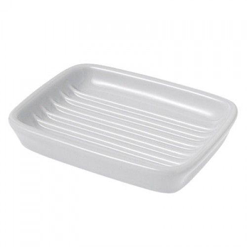 White Porcelain Soap Dish Muji