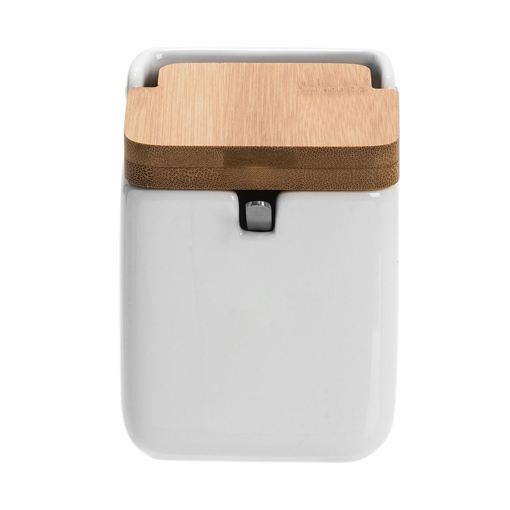 4aabc433564 Camicado - Saleiro de Cozinha com Colher Lumen Branco e Natural 250ml - Home  Style