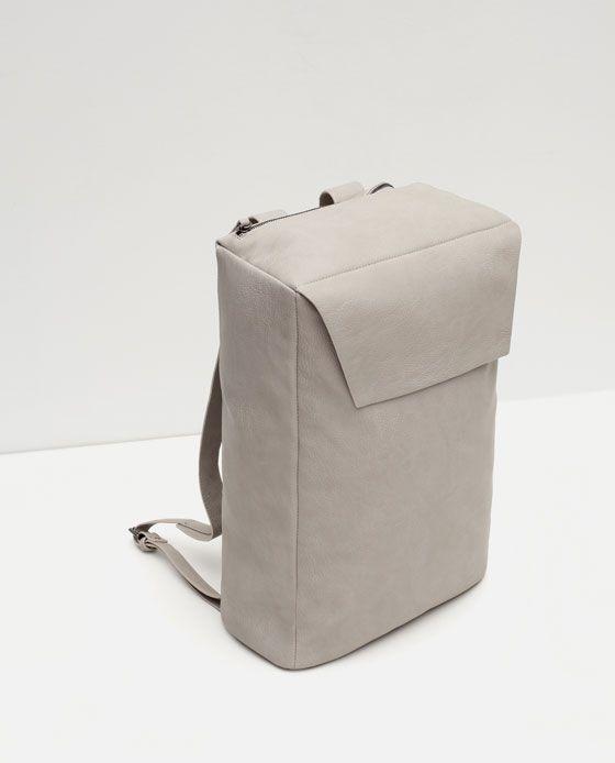 Rectangular Flap Backpack Minimalist Backpack Flap Backpack Minimalist Bag