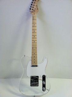 Telly Clear Caster Body Lucite Guitar Fender Guitars Fender