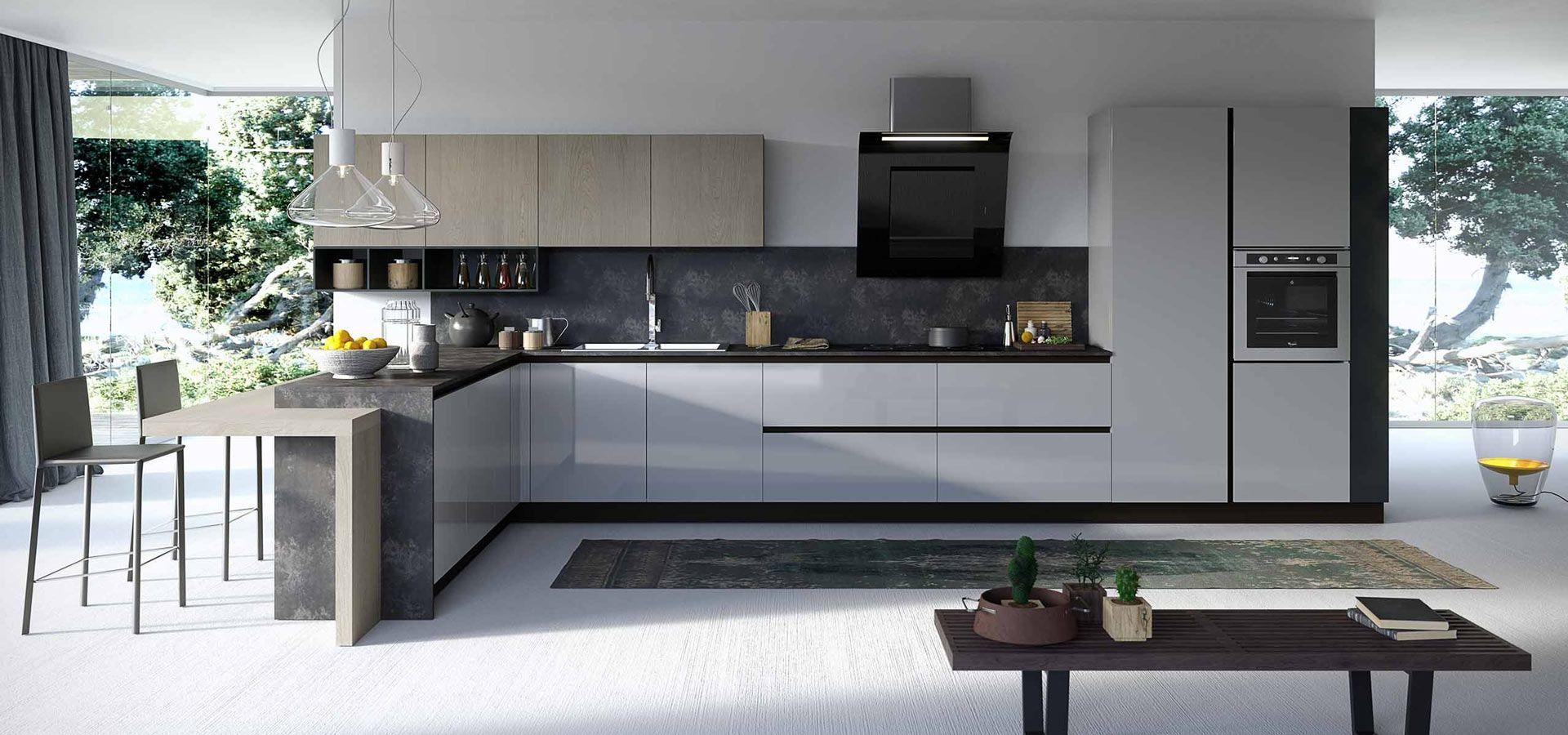Descubra la cocina moderna Round, un modelo de cocina modular con ...