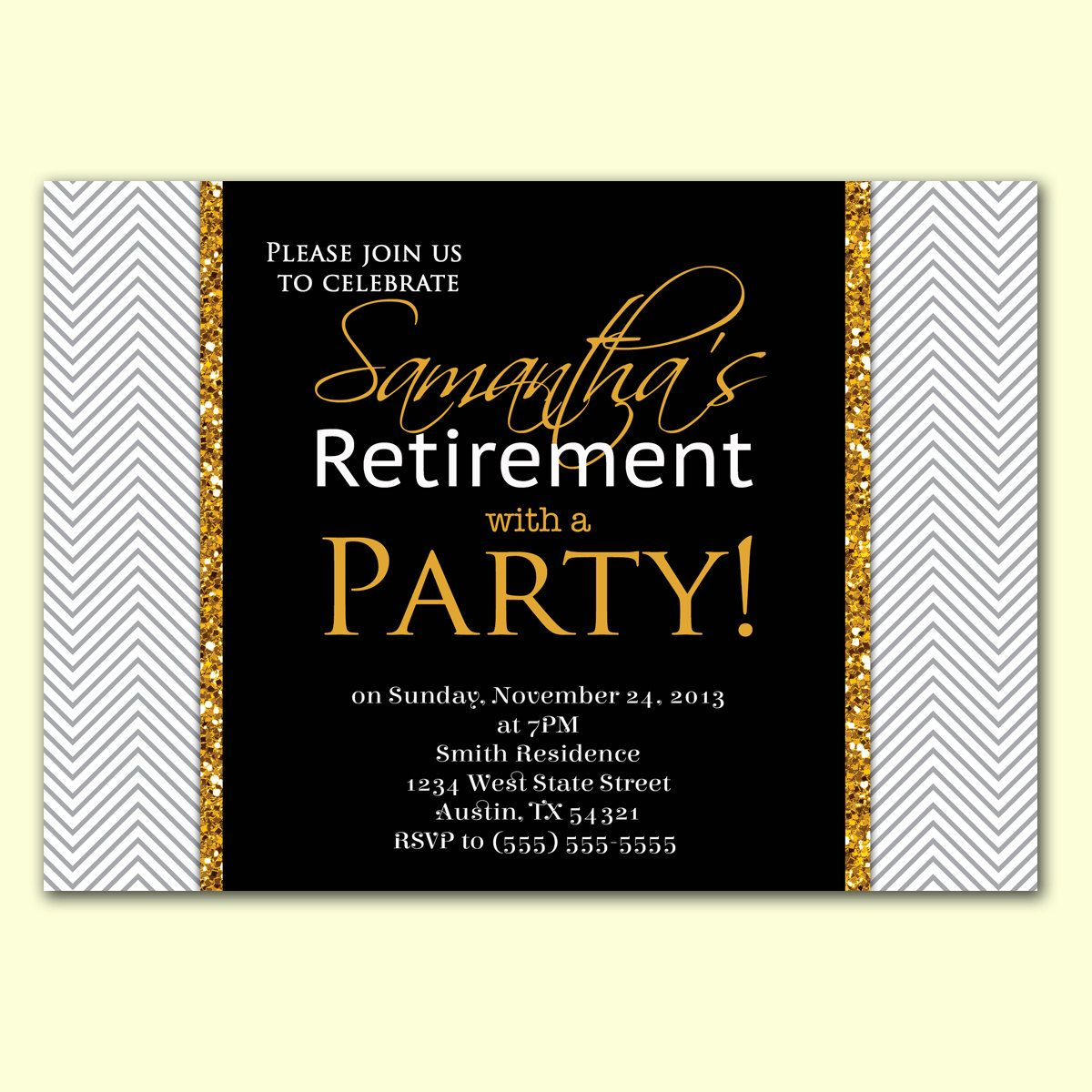 Retirement Party Invitation Borders | Invitationswedd.org