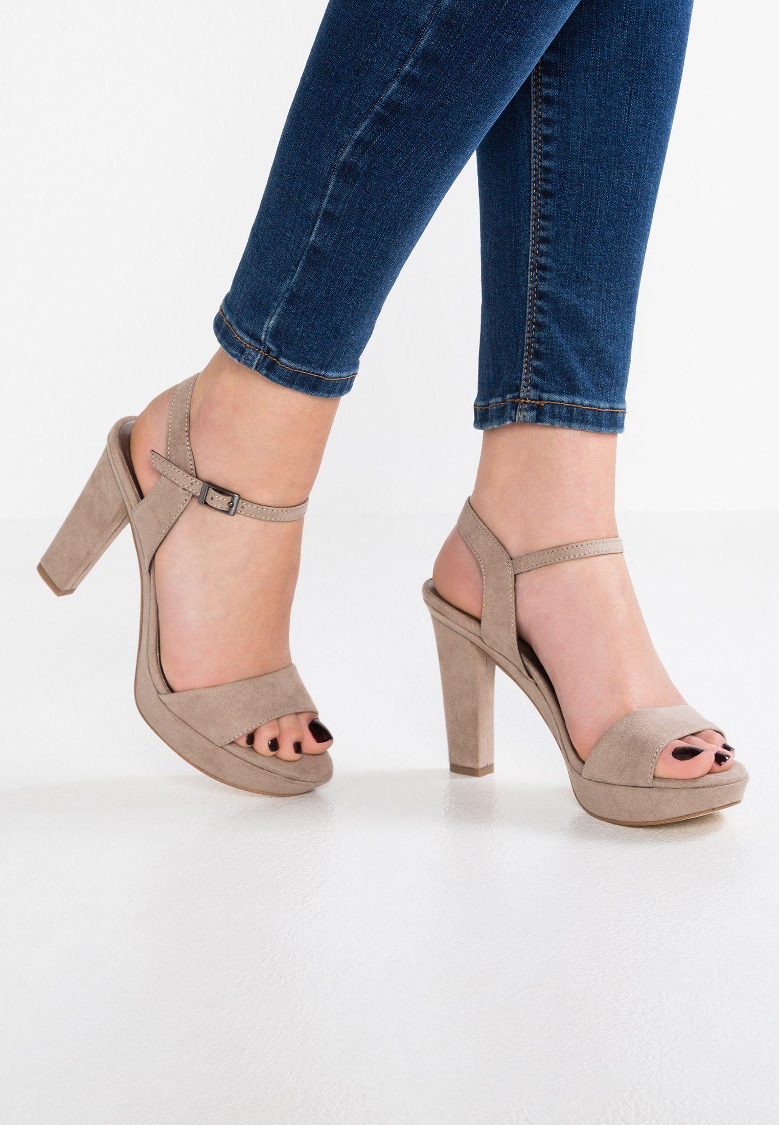 Tamaris High Heeled Sandals Pepper Zalando Co Uk Casual Shoes Sandals Heels Heels