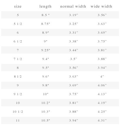 Kids Shoe Size Chart  Fashion    Shoe Size Chart Kid