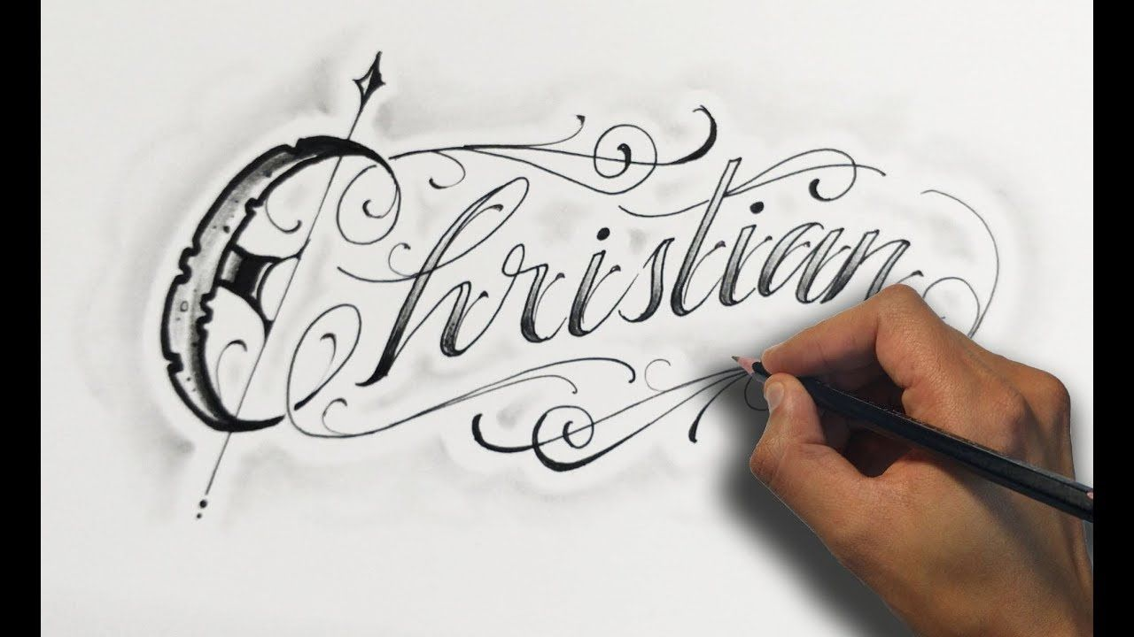 Dibujando Letras Chicanas Christian Drawing Lettering Nosfe Ink Tattoo Tattoo Lettering Styles Tatoo Lettering Christian Drawings
