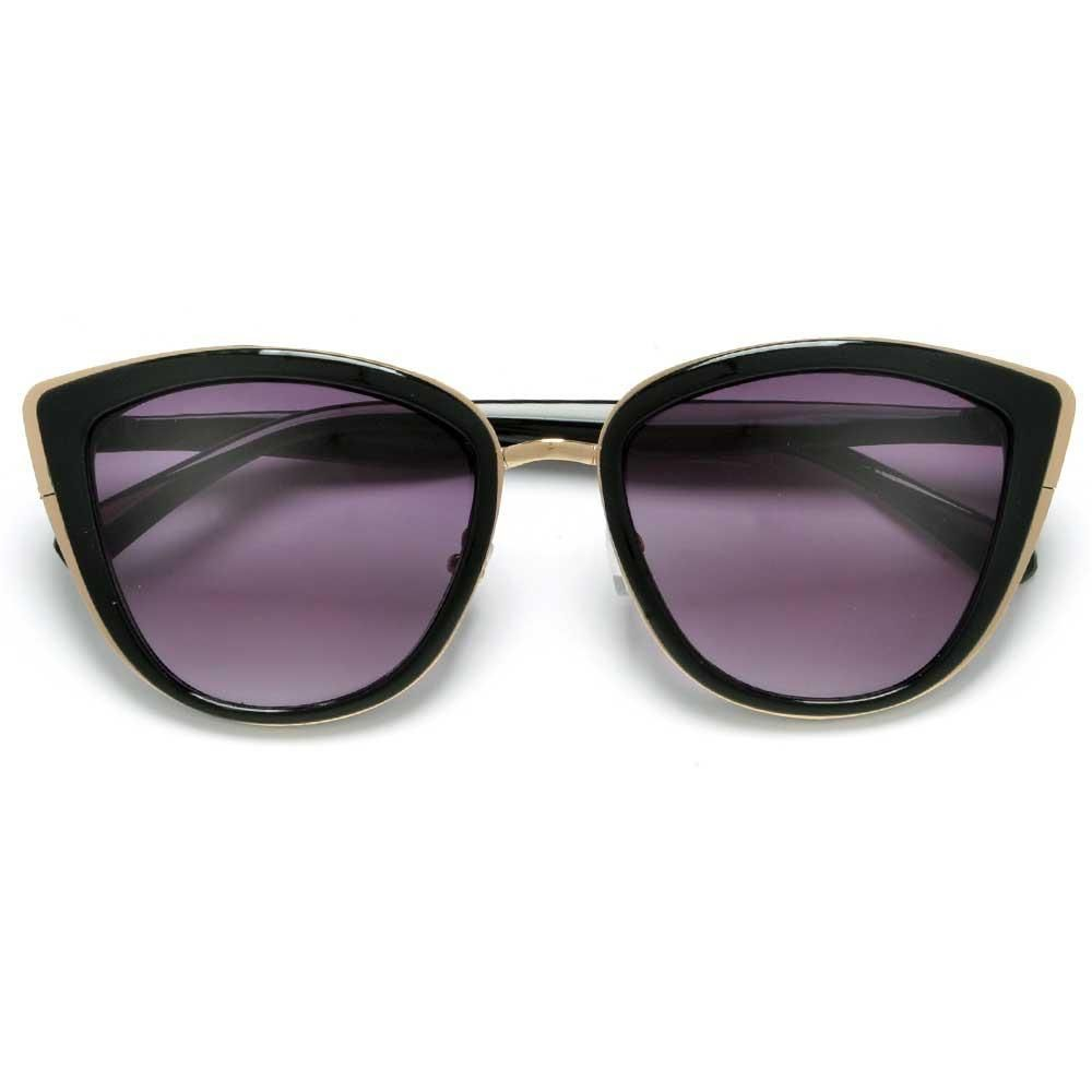 62805b5003 High Fashion Colorful Mirrored Lens Metal Outline Trim Stylish Women s Cat  Eye Sunglasses