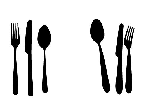 free spoon knife and fork vectors for your kitchen designs rh pinterest com free knife and fork clipart plate knife and fork clipart