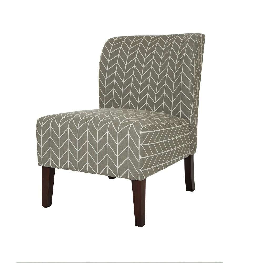 Best Set Of 2 Herringbone Upholstered Accent Chair Gray 400 x 300