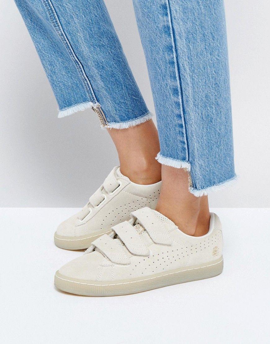 reputable site c768b 26af7 Puma X Careaux Basket Strap Sneakers In Beige | puma in 2019 ...