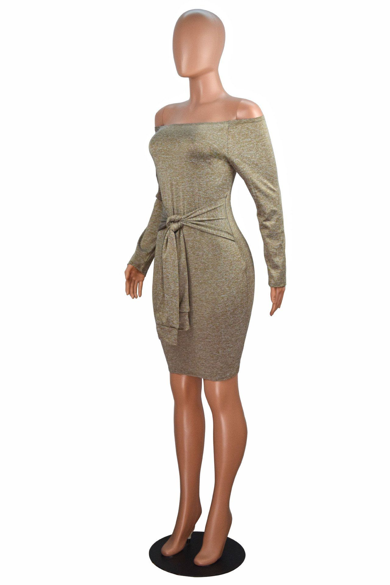 Bodycon bandage evening cocktail party dress women off the shoulder