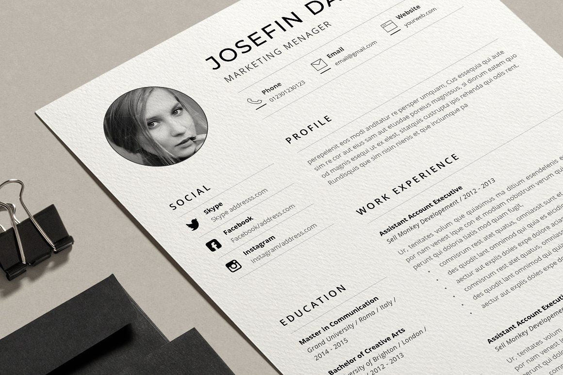 Word Resume Template dayfreefilesWinrar Cover letter