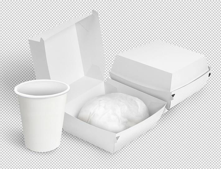 Free Download Food Packing Box Mockup Design Food Packing Boxes