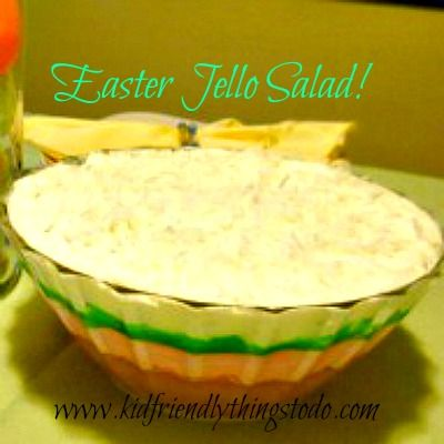 This is a dessert that has been on my families Easter table for years! Such beautiful layers of color. like an Easter Egg! Old fashioned Easter Jello!