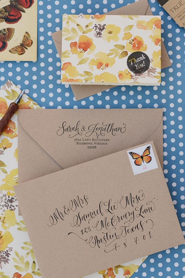 Diy Rubber Stamp Tutorial  Patterned Thank You Notes  Addresses