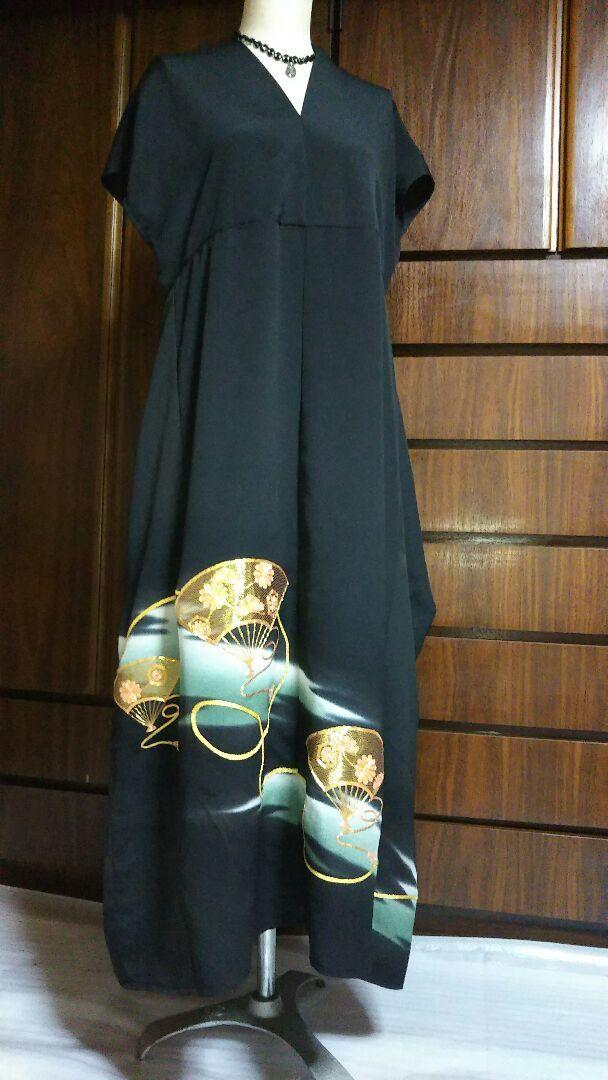 メルカリ 着物リメイク ワンピース 結婚式 ロングワンピース 7 800 中古や未使用のフリマ 着物リメイク ワンピース 着物ファッション リメイク ファッション