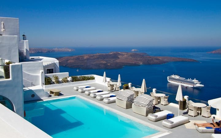 The Wonderful Pool And Caldera Views From Belvedere Santorini Hotel