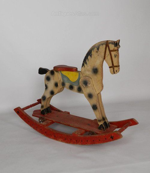 Antiques Atlas - Charming French Painted Rocking Horse