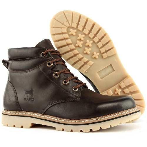 Sapato Bota Coturno Masculino Adventure Cano Médio Social - R  64 f5df8d3153475