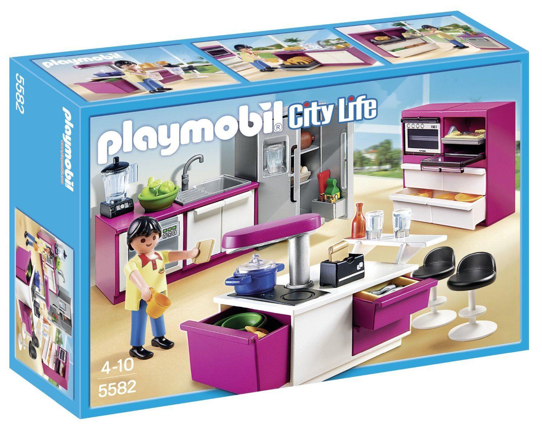 Playmobil A1502744 Jeu De Construction Cuisine Avec Ilot