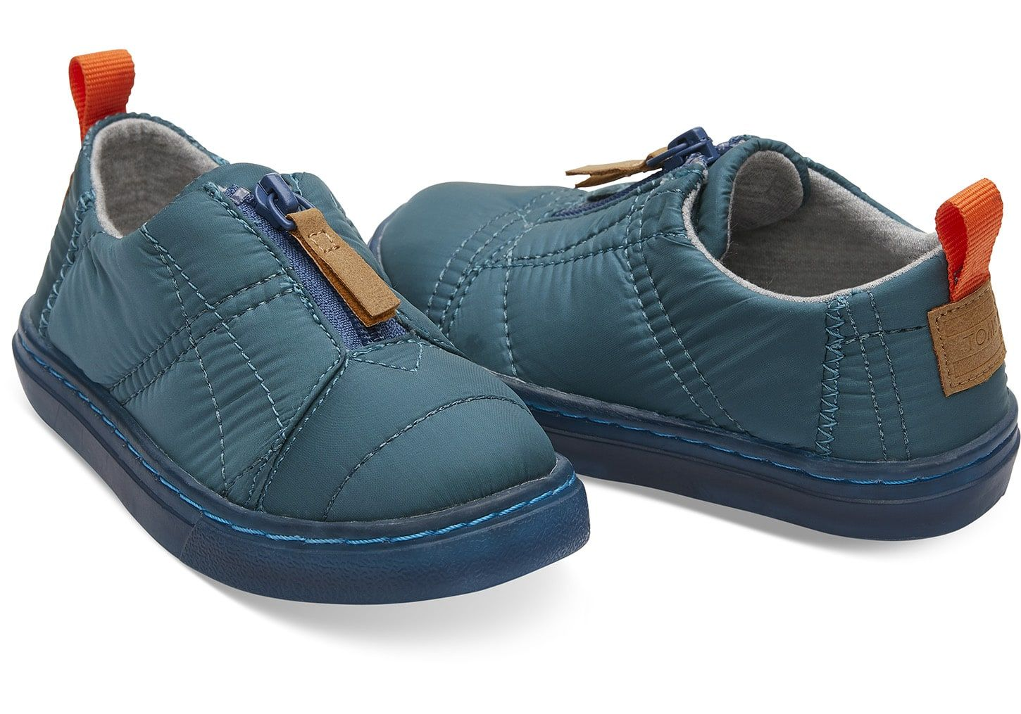 54564e4f7 Stellar Blue Quilted Tiny TOMS Lenny Sneakers | Fall 2018 Munchkin ...