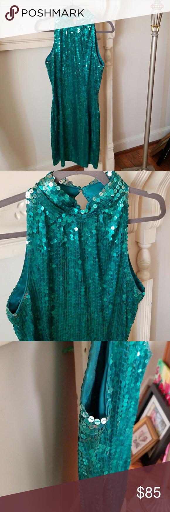 Vtg sequin dress check out the back my posh picks pinterest