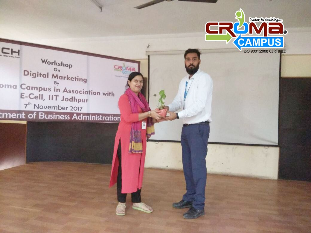 Croma Campus Pvt. Ltd. Conducted 1 Day at Digital