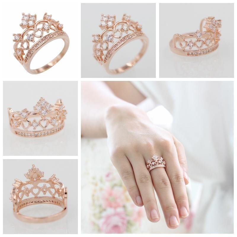 Rose Gold Crown Ring in 2020 Rose gold crown ring, Rings