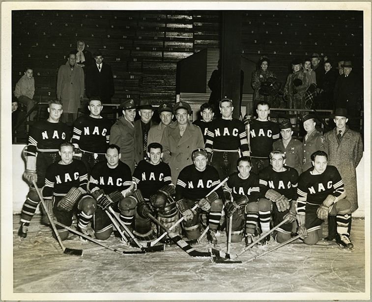 During World War II, a group of Northwestern Aeronautical Corporation employees assembled up to 15 wooden gliders a day in St. Paul, Minnesota and played hockey in their spare time. Their team photo in our archives is archivist and avid sports fan Elizabeth Borja's #hockeyseason find.