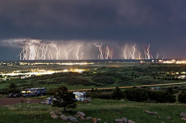 Amazing and spectacular lightning show