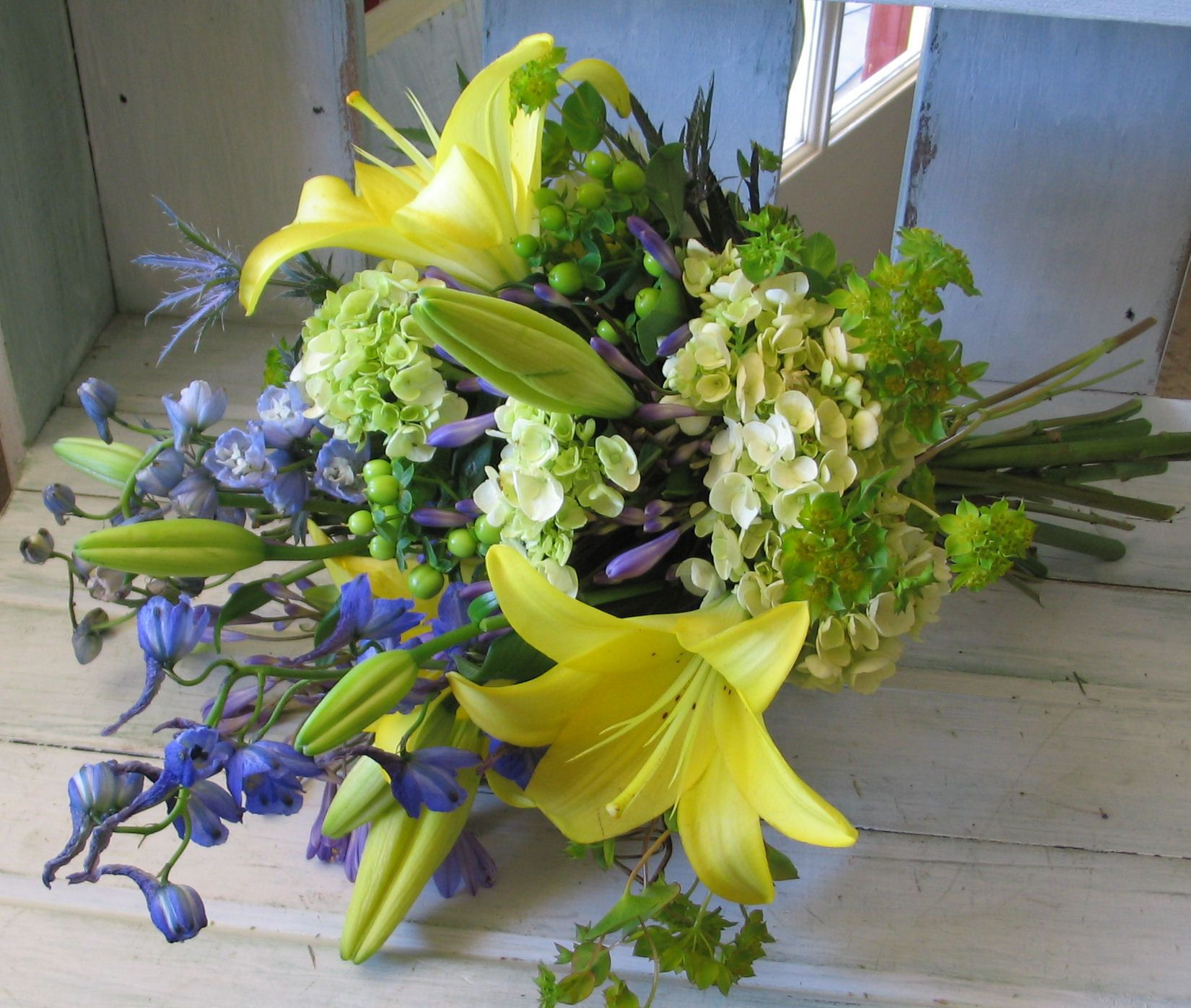 My colors are peacock blue and canary yellow this is a bouquet idea my colors are peacock blue and canary yellow this is a bouquet idea for bridesmaids izmirmasajfo Image collections